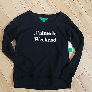 "☂️FALL PREVIEW☂️NWT ""J'aime le Weekend"" Crewneck"